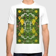 Summer Flowers Reflect Mens Fitted Tee White SMALL