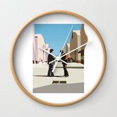 Wish you were flat Wall Clock
