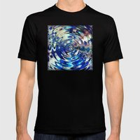 Water Element Ripple Pat… Mens Fitted Tee Black SMALL