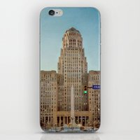 Down Town City Hall Buffalo NY  Color iPhone & iPod Skin