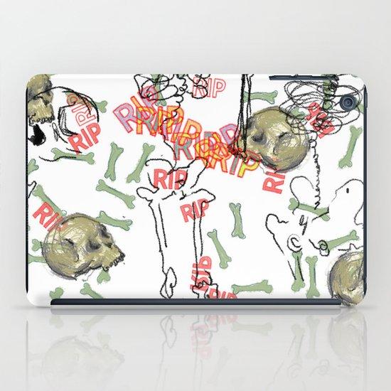 R.I.P. Funky skull joy death thing... I belive  iPad Case