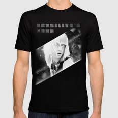 Satellite's gone SMALL Mens Fitted Tee Black