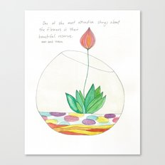 Terrarium Flower Canvas Print