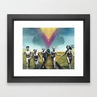 collage Framed Art Print