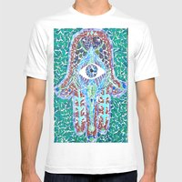 hamsa - glass Mens Fitted Tee White SMALL