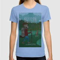 Oregon Womens Fitted Tee Athletic Blue SMALL