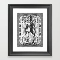 Legend of Zelda - Epic Link Vintage Geek Line Artly Framed Art Print