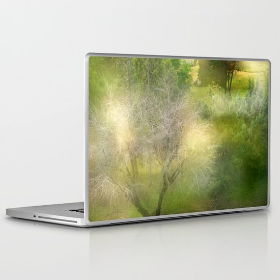 White tree: the forests in my city Laptop & iPad Skin