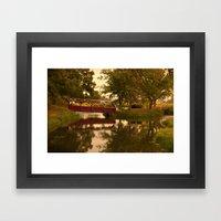 Bridge that needs crossing Framed Art Print