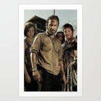 The Walking Dead - The C… Art Print