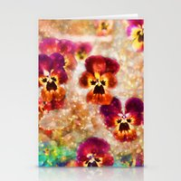 Spring Pansies Stationery Cards