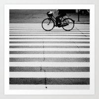bike Art Prints featuring BIKE by TOM MARGOL