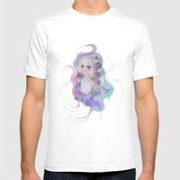 Cosmic Lola Mens Fitted Tee White SMALL