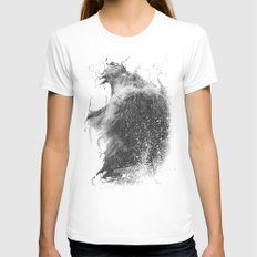 DARK LION #2 Womens Fitted Tee White SMALL