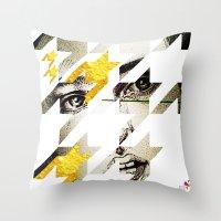 Maze Hound Throw Pillow