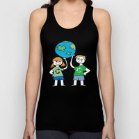 Recycle Message Kids Unisex Tank Top