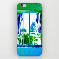 Cool Blue Window iPhone & iPod Skin