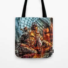 Bioshock Mr Bubble's Please Get Up Tote Bag