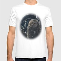 Solar Owl Jupiter  Mens Fitted Tee White SMALL