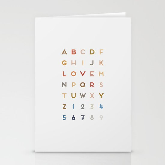 Letter Love - Color Stationery Card