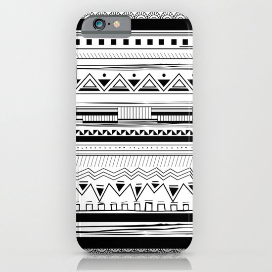 Tribal Pattern Black iPhone & iPod Case