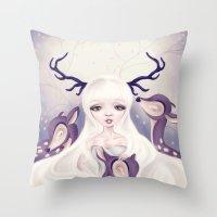 Deer: Protection Series Throw Pillow