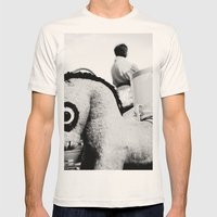 Pony with big eyes Mens Fitted Tee Natural SMALL