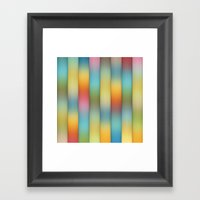 Beautiful, Colorful Stri… Framed Art Print