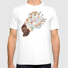 Come Undone Mens Fitted Tee White SMALL