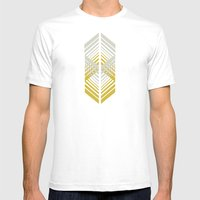 De-Lux Mens Fitted Tee White SMALL