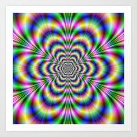 Psychedelic Hexagon Art Print