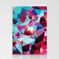 Polygon Pattern Stationery Cards