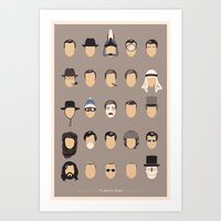 25 FACES OF JAMES Art Print