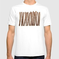 Pretzel Stix Lineup Mens Fitted Tee White SMALL