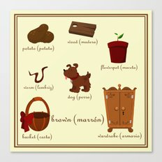 Colors: brown (Los colores: marrón) Canvas Print