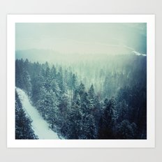 Climbing the Tallest Mountain in Germany Art Print