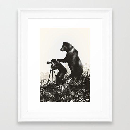 The Bear Encounter II Framed Art Print