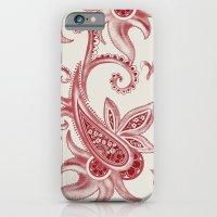 Paisley: Vintage RED  iPhone 6 Slim Case