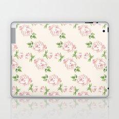 Pink Vintage Roses Pattern Laptop & iPad Skin