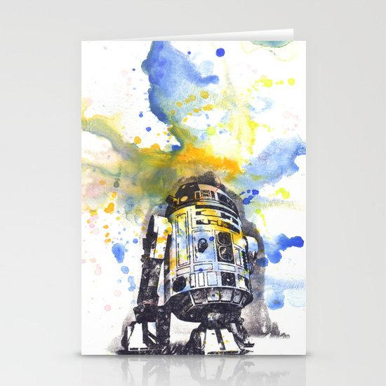 R2D2 from Star Wars Stationery Card