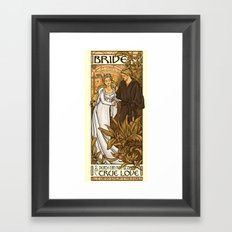 Bride Framed Art Print