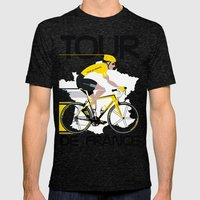 Tour De France Mens Fitted Tee Tri-Black SMALL