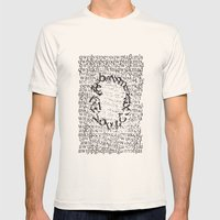 Letters  Mens Fitted Tee Natural SMALL