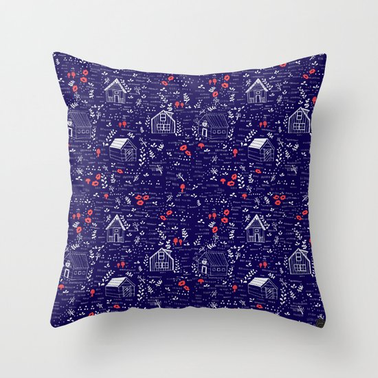Stuga Pattern  Throw Pillow