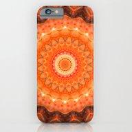 Mandala Orange Brown iPhone 6 Slim Case