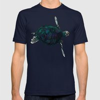 Sea Turtle Mens Fitted Tee Navy SMALL