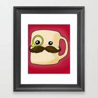 Mustache Mug Framed Art Print