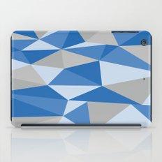 Blue & Gray Geometric iPad Case