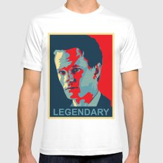 LEGENDARY Mens Fitted Tee SMALL White