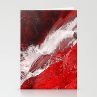 Stationery Cards featuring Red Rock Falls by Jen Warmuth Art And …